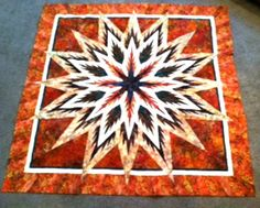 Feathered Star, Quiltworx.com, Made by Certified Instructor Sue Wilson.