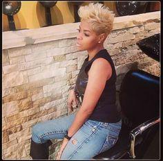 #pixie #blonde #shorthair #lovethecut