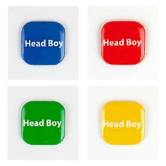 32mm Square Button Badge - Head Boy – London Emblem School Badges, Button Badge, Buttons, Instagram Posts, Boy London, House, Products, Badge, Home