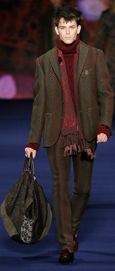 ETRO Man Autumn Winter--Like the color pallet and texture. To much is not a good thing ....