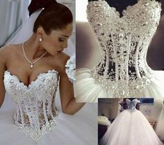 Sexy white/ivory Wedding dress Bridal Gown custom size 4-6-8-10-12-14-16-18+++ #Unbranded #BallGown #Formal