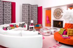 Play on circles and neon colors!