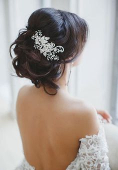 sparkly hair clips for wedding hair - Google Search