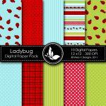 Free Ladybug Digital Papers