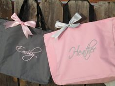 15 Personalized Bridesmaid Gift Totes  by elrileyembroidery