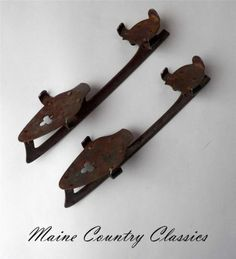 Antique Union Hardware Co TORRINGTON Conn Key Type Clamp on Ice Skates Size 11 | eBay