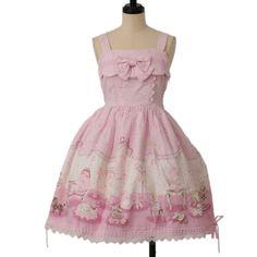 ラブリースウィートルーム柄ジャンパースカート  ロリィタファッション BABY THE STARS SHINE BRIGHT (6490 yen)
