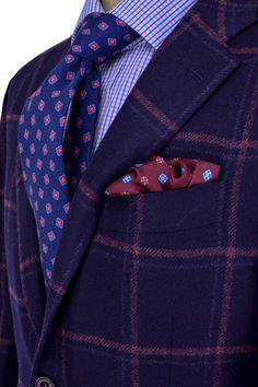 Navy and Bordeaux Sportcoat [ CaptainMarketing.com ] #fashion #online #marketing