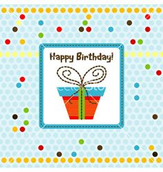 Greeting Card Vector On Vectorstock  Happy Birthday To You