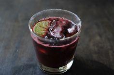 Blackberry Caipirinha -- it's like summer in a glass!