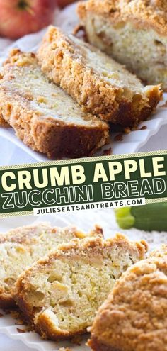 Are you planning to bake up homemade bread? Give this easy recipe a try! Not only is this sweet, quick bread filled with apples and zucchini, but it also has a cinnamon brown sugar crumb topping. Make a moist, delicious loaf and enjoy a slice for breakfast or as a snack!
