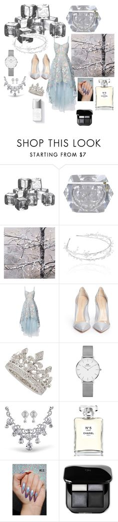 """""""Do you wanna build a snowman?"""" by giulia-ostara-re ❤ liked on Polyvore featuring Simon Pearce, Linni Lavrova, Notte by Marchesa, Gianvito Rossi, Garrard, Daniel Wellington, Chanel and Couture Colour"""