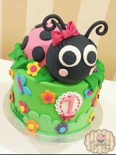 Giant ladybug cake