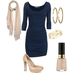 blue dress, created by missbbaby.polyvore.com