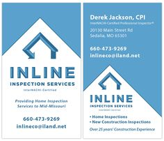 Business card inspector home inspection business card samples business card inspector you are here home blog business cards logos inline inspection services colourmoves