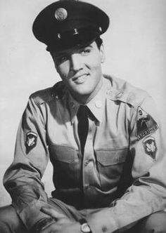 Got to love a man in a uniform. Love you elvis, to the moon and back.