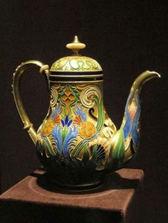 A silver gilt and enamel teapot from House of Faberge, Russia pre 1896, Cleveland Museum of Art