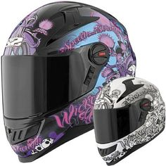 Speed and Strength SS1300 Wicked Garden Women's Motorcycle Helmets