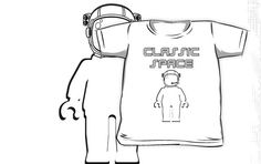 """Classic Space Banksy Style Minifig by Customize My Minifig"" Kids Clothes by ChilleeW 