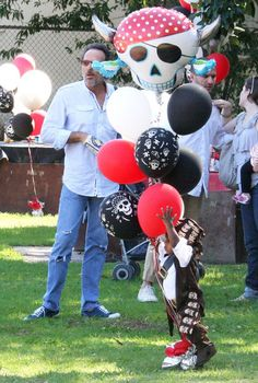 Sandra Bullock and Son Attend a Pirate Birthday Party