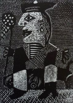 """""""Portrait"""" by Alfred Stockham (wood engraving)"""