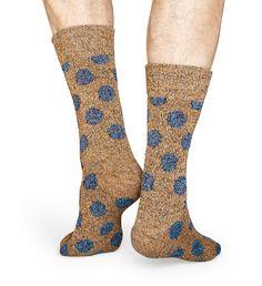 Brand NEW Wool Big Dot Socks in brown & gray colors!