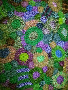 freeform knit & crochet fabric closeup | Flickr - Photo Sharing!