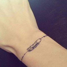 Feather Bracelet Tattoo Design