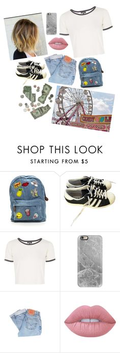 """""""Rollercoaster"""" by annnnnnnnnn ❤ liked on Polyvore featuring adidas, Topshop, Casetify, Levi's and Lime Crime"""