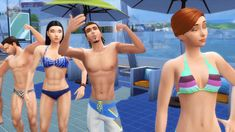New party member! Tags: friends pool selfie cheer squad flex crew sims the sims confidence sim ts4 ts3 hangout ts2 simmer ts1 simming preppy