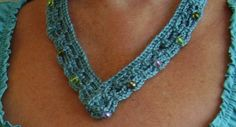 Crochet Beaded ... by CrocKnits | Crocheting Pattern - Looking for your next project? You're going to love Crochet Beaded Necklace Quick & Easy by designer CrocKnits. - via @Craftsy