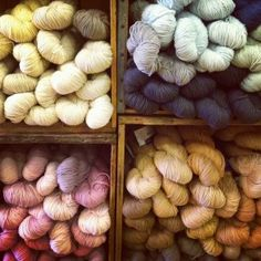 "@ Nido shop, VT -- This, my friends, is what we call ""yarn porn"""