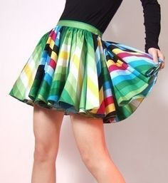 Is it just me, or do short-ish circle skirts look super cute with all kinds of tops?
