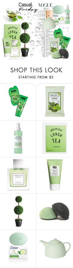 """""""Relaxing Green Tea"""" by iris234 on Polyvore featuring beauty, Forever 21, Mario Badescu Skin Care, PHAIDON, Vera Wang, Origins, Improvements, Mud Australia and GreenTeaBeauty"""