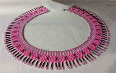 construction of bugle beads necklace
