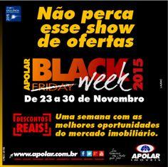 Aproveite este show de ofertas da Black Week Apolar, de 23 a 30 de novembro. Venha conferir os imóveis que estão participando desta promoção!  Nossos corretores estão à disposição para atendê-los.  Informações no telefone (41) 3335-7190 => Apolar Champagnat  Loja Rua Martin Afonso, Esquina com Alameda Presidente Taunay, nº 1155  Ou também no Facebook -> Apolar Champagnat https://www.facebook.com/ApolarImoveisChampagnat/?fref=ts…