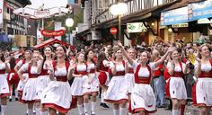 "Oktoberfest 2015 Dates: September 19 – October 2015 ""O'zapft ist! There is no better time to enjoy a beer than to do it at the Oktoberfest! Where the month of October brings nationa… Munich, Santa Catarina Brazil, October Festival, Beer Maid, British Beer, Oktoberfest Party, Beer Girl, Festivals Around The World, Beer Festival"