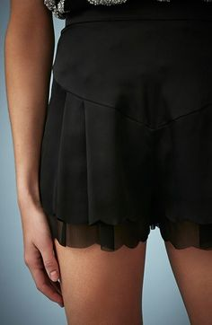 Scalloped shorts #toocute