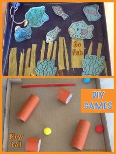 DIY Games using recyclables - Teach Me Mommy