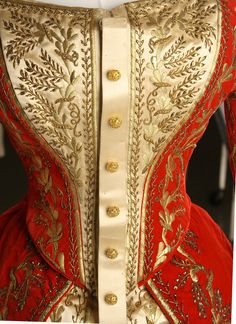 Russian imperial court dress, late 19th to early 20th century