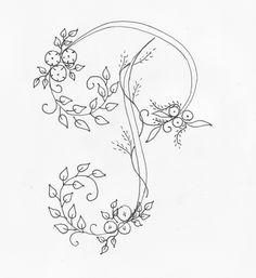 Embroidery Alphabet, Embroidery Monogram, Hand Embroidery Patterns, Vintage Embroidery, Ribbon Embroidery, Embroidery Art, Cross Stitch Embroidery, Flower Sleeve, Writing Art