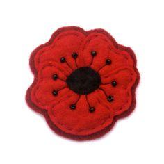 Poppy  diy craft felt  flower