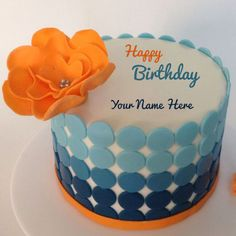 Write Name on Happy Birthday Love Cake For Girlfriend