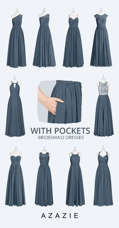 A bride's best friend! Azazie offers 80+ colors for you to choose from, We also provide more than 600+ trendy styles for you to choose from. Available in full size range 0-30 and free custom sizing. #bridesmaiddresses #weddingideas #bridesmaiddressescolos #2020wedding Dusty Blue Bridesmaid Dresses, Dusty Blue Weddings, Bridesmaid Dress Styles, Wedding Bridesmaids, Wedding Dresses, Bridesmaid Color, Azazie Bridesmaid Dresses, Formal Attire For Wedding, Wedding Dress Blue