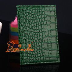 Zongshu New Arrived Candy Color Fashion Passport Cover Card Holder Unisex Travel Passport Holder crocodile grain passport case