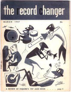 The Record Changer, March Gene Deitch cover art. Vintage Designs, Vintage Art, Vintage Comics, Le Kraken, Jazz Art, Vinyl Junkies, Beatnik, Retro Illustration, Princess Pictures