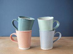 We love these delicate handmade porcelain mugs from artist Vanessa Villarreal.