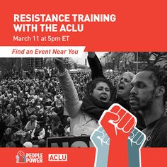 Saturday March 11 TH ACLU launches residence training