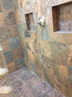 Bathroom Tiles Kendal this american olean bathroom features kendal slate tile in