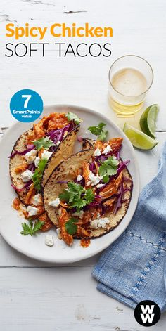 Need a healthy new dinner idea your whole fam will love? Kick up your Taco Tuesday with these spicy chicken & goat cheese tacos. Tap to get this recipe, plus 3 more taco ideas.